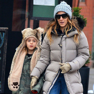 Sarah Jessica Parker and Kids Walking in NYC