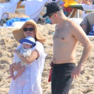 Reese Witherspoon in a Swimsuit at the Beach (Video)