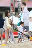 Stephanie Seymour Mixes Bikinis and Family Time in St. Barts