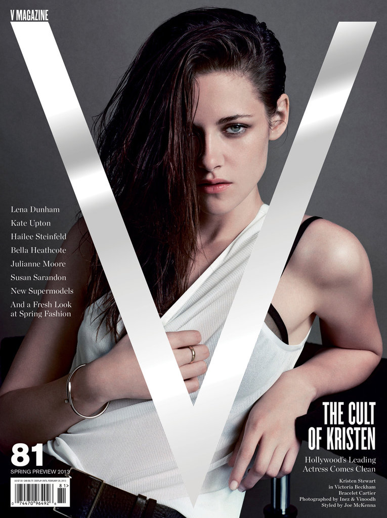 Kristen Stewart covers V magazine's Spring Preview 2013 issue.  Source: Inez & Vinoodh for V Magazine, out Jan. 10