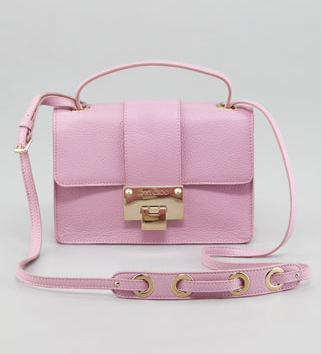 Not everyone can pull off a pink bag, but this Jimmy Choo Rebel leather crossbody bag ($895) is simply too cute to deny. It would add a feminine flair to any look.