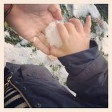 Miranda Kerr made a snowball with her little boy, Flynn Bloom. Source: Twitter user MirandaKerr