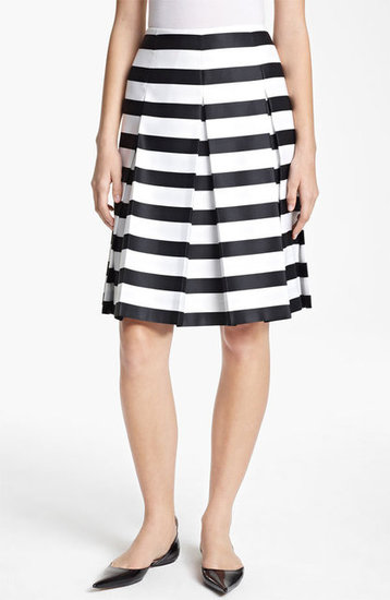 This Marc Jacobs large-striped skirt ($995) is one of the catalysts for Spring's black-and-white trend. We love the knee-length hemline and the ladylike pleats.