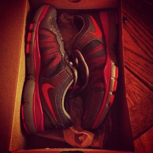 We're hoping that this pair of Nikes didn't stay in the box too long.  Source: Instagram user nessabirdie