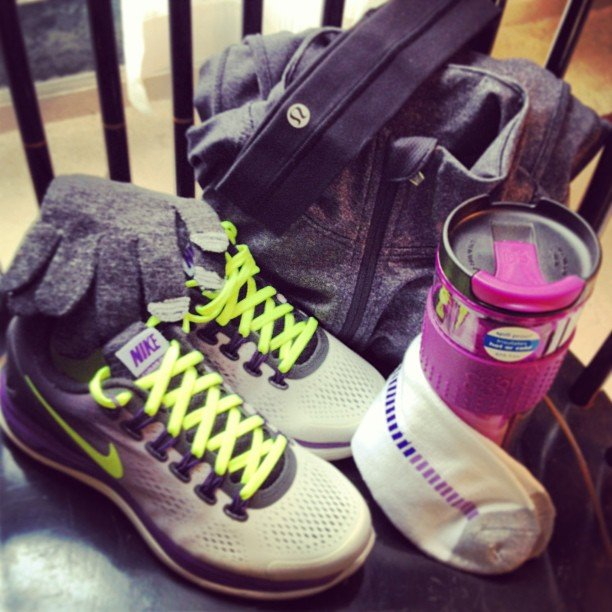 Lululemon and Nike under the tree? Talk about a lucky girl! Source: Instagram user lynnja26