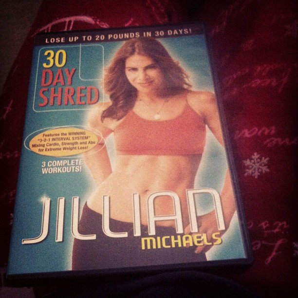 We hope that this user loves Jillian Michaels's 30 Day Shred as much as we do! Source: Instagram user chickenpoopie