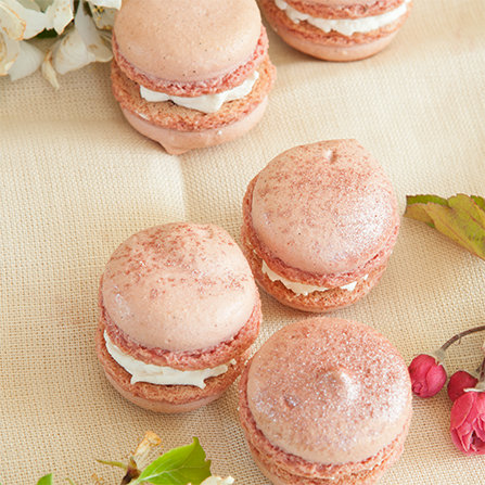 macarons..cherry blossom