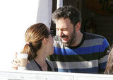 Ben Affleck and Jennifer Garner laughed together.