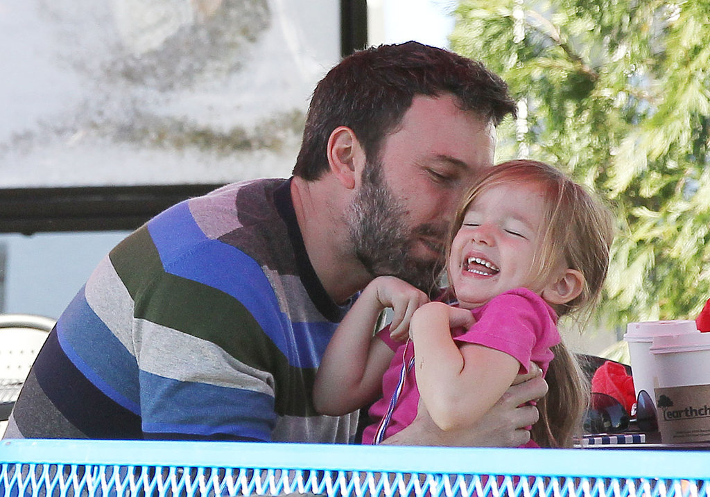Ben Affleck giggled with Seraphina.