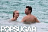 Bikini-Clad Julianne Hough Paddleboards With Shirtless Ryan Seacrest
