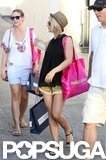 Julianne Hough picked up some items while shopping in St. Barts.