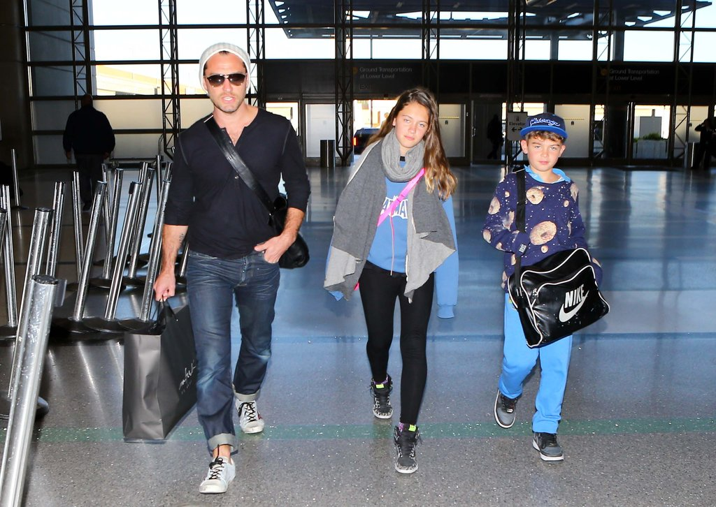 Jude Law and his children left LA.