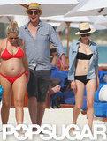Michelle Williams wears a bikini in Mexico.