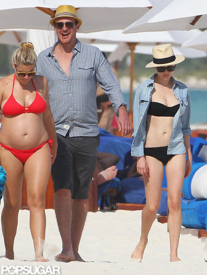 Michelle Williams wears a bikini in Mexico.