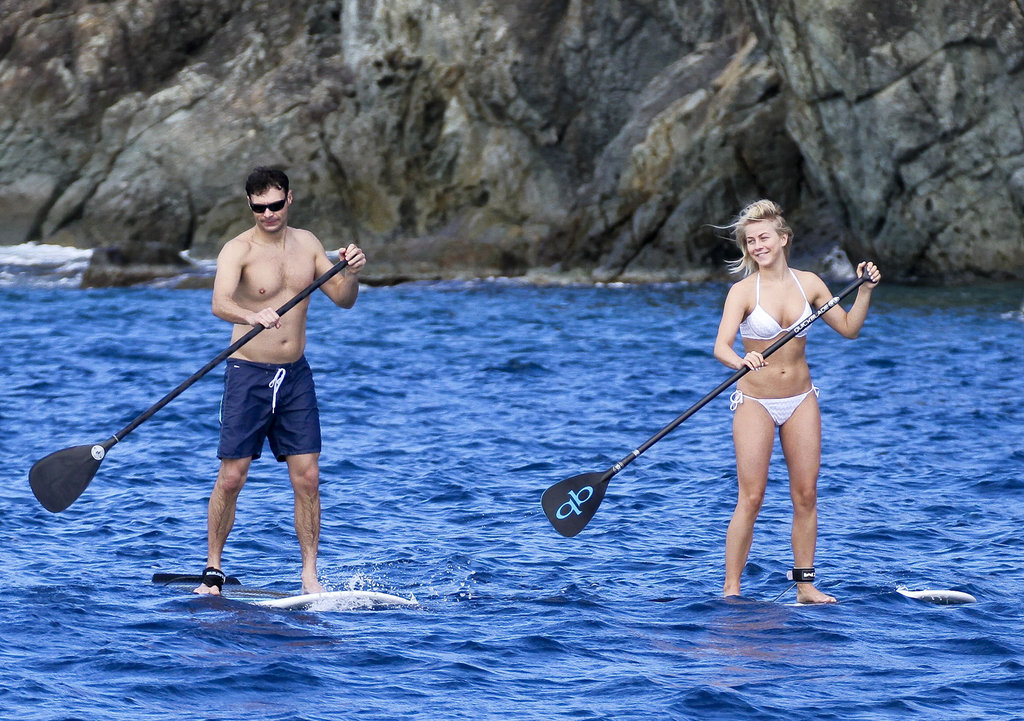 Julianne Hough went paddleboarding with Ryan Seacrest in St. Barts.