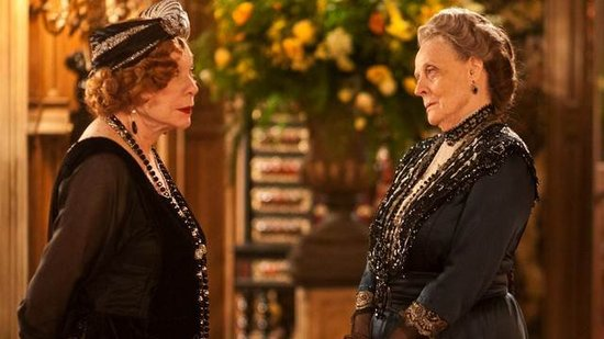 Looks like Maggie Smith's Dowager has finally met her equal in Shirley MacLaine's Martha Levinson. Take the gloves off, ladies!