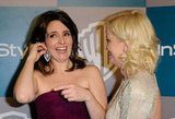 The pals laughed while Tina adjusted her earrings at the InStyle Golden Globes afterparty in 2012.