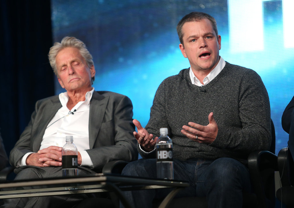 Matt Damon and Michael Douglas Talk Liberace at the Winter TCA