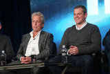 Michael Douglas and Matt Damon took the stage at the HBO Winter 2013 TCA Panel in Pasadena.