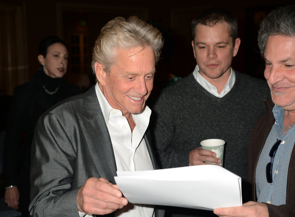 Michael Douglas and Matt Damon talked about Behind the Candelabra.