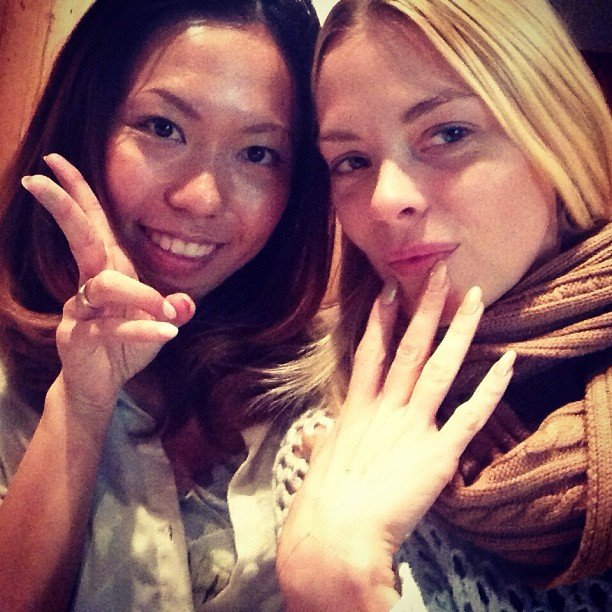 Jaime King showed off a pretty new manicure. Source: Instagram user jamie_king