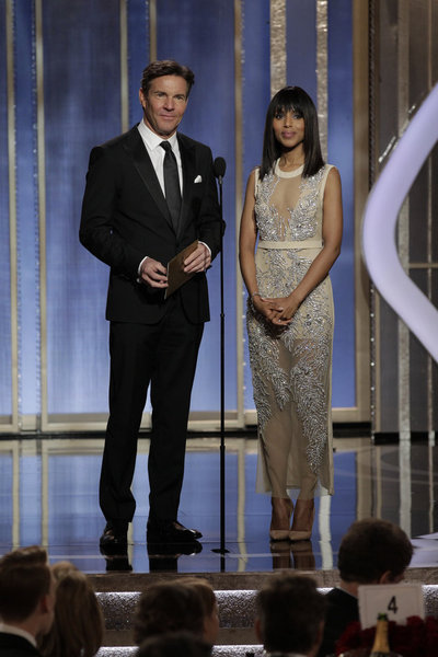 Dennis Quaid and Kerry Washington