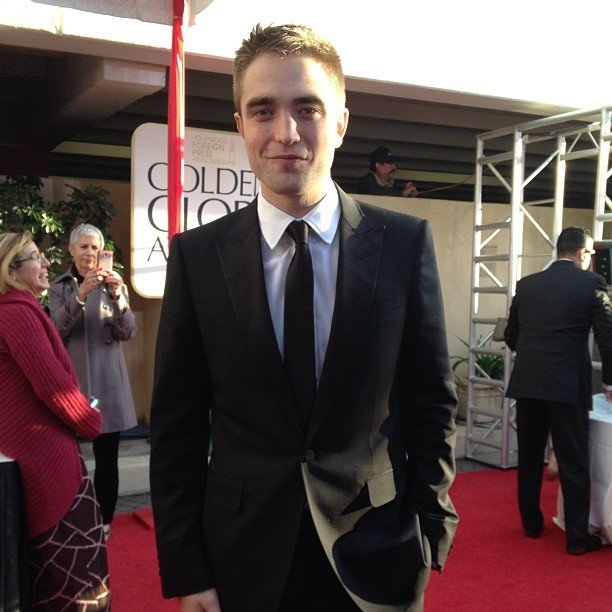 Robert Pattinson hit the red carpet in a Gucci tuxedo. Source: Instagram user goldenglobes