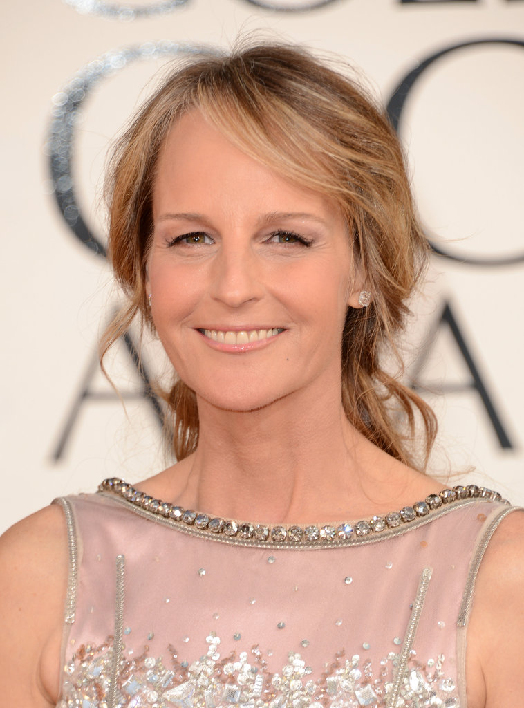 Helen Hunt shined on the Golden Globe red carpet in Dolce & Gabbana.