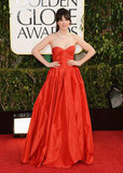 New Girl leading lady Zooey Deschanel looked stellar in red.