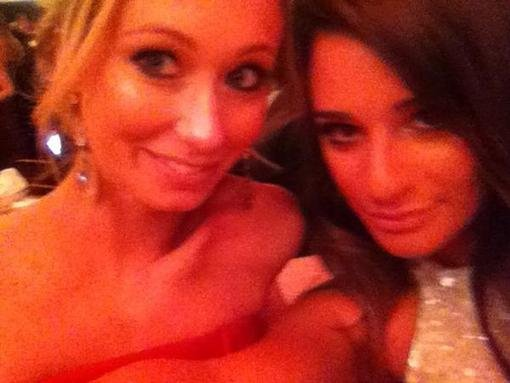 Lea Michele snapped a photo from the Golden Globes audience. Source: Twitter user msleamichele