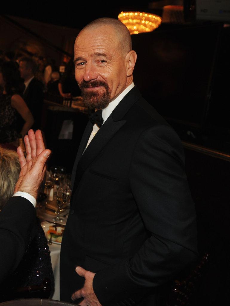 Bryan Cranston smiled at the 2013 Golden Globes.