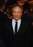 Ang Lee posed at the Golden Globes.