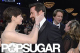Anne Hathaway shared a moment with Les Misérables costar Hugh Jackman.