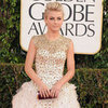 Julianne Hough in a Gold Gown at the Golden Globes