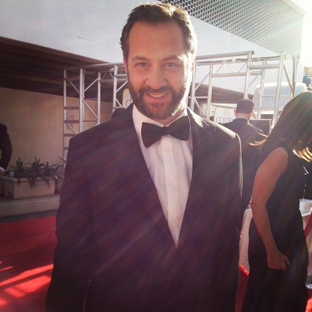 Judd Apatow smiled for the Golden Globes camera. Source: Instagram user goldenglobes