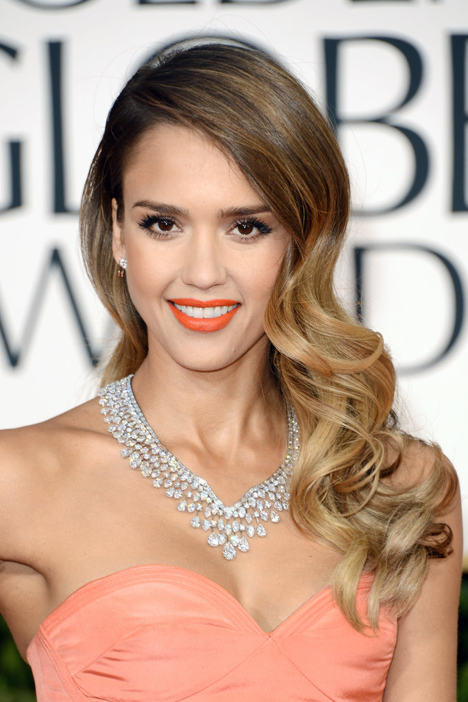 Jessica Alba Goes For Orange at th