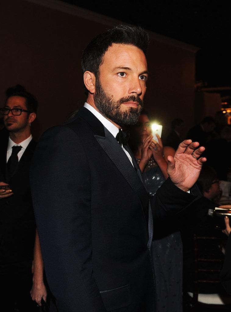 Ben Affleck gave a wave at the 2013 Golden Globe Awards.