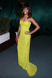 Olympian Gabrielle Douglas donned a neon yellow dress at the after party.