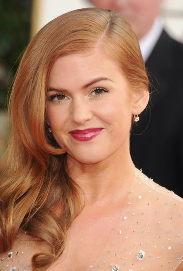 Isla Fisher arrived at the 2013 Golden Globes.