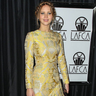Jennifer Lawrence in Yellow at LA Film Critics Awards
