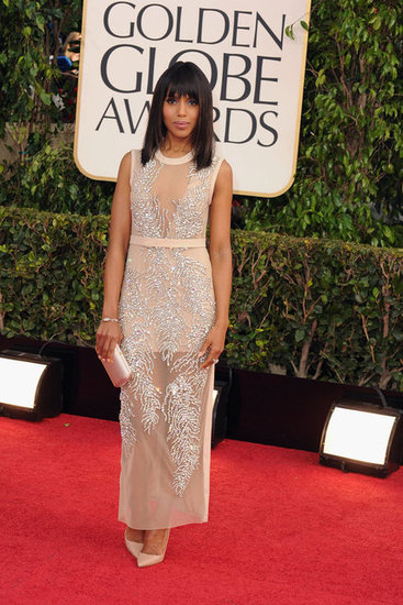 Kerry Washington looked stunning on the Golden Globes carpet.