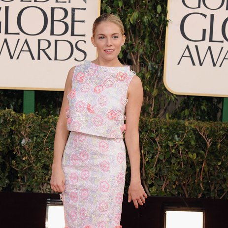 Sienna Miller Pictures in Erdem at 2013 Golden Globes