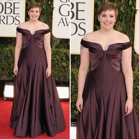 See Lena Dunham in Zac Posen at the 2013 Golden Globes
