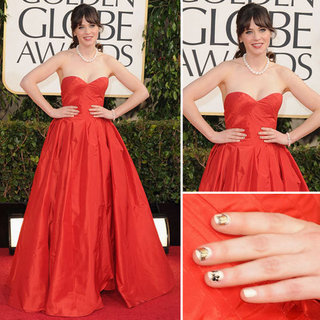 Zooey Deschanel | Golden Globes Red Carpet Fashion 2013