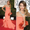 Jessica Alba in Oscar de la Renta Gown at 2013 Golden Globes