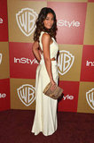 Emmanuelle Chriqui turned it out, cut-outs and all, in a white Tadashi Shoji creation at the InStyle number.