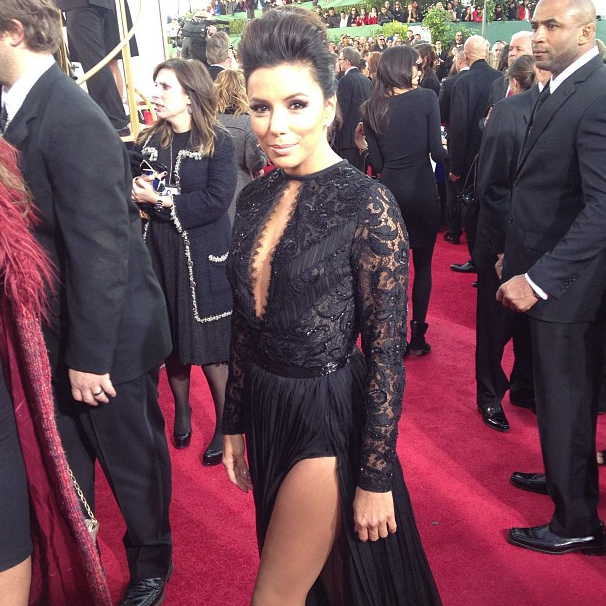 Eva Longoria Sports a Few Slits