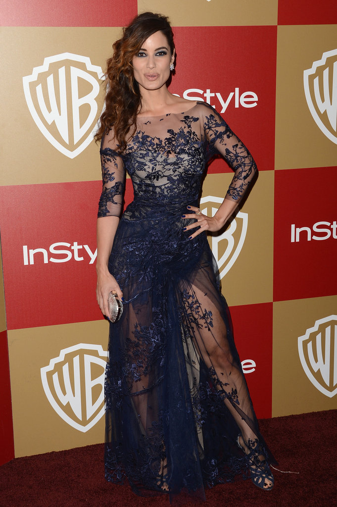 Berenice Marlohe didn't leave anything to the imagination at the InStyle party, baring a lot of skin via sheer lace everything.