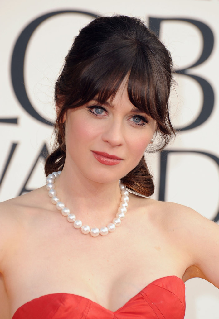 Now: Zooey Deschanel