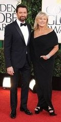 Hugh Jackman and Deborra-Lee Furness(2013 Golden Globes Awards)